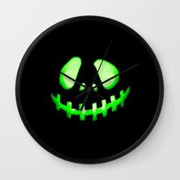 HALLOWEEN. Jack O Lantern : Green Wall Clock