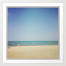 Beach Summer Warm Water Color Photography Art Print