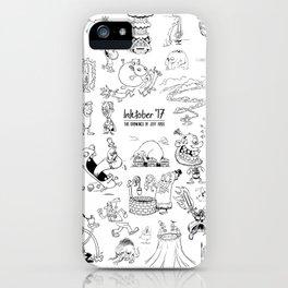 Inktober 2017 iPhone Case
