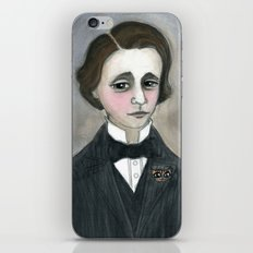 Lewis Carroll and the Cheshire Cat iPhone & iPod Skin