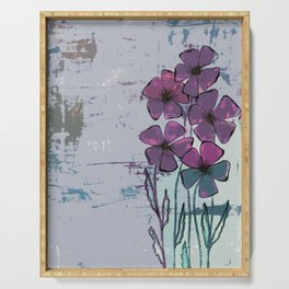 Meadow flowers lilac Serving Tray
