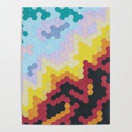 Nebula Hex Poster