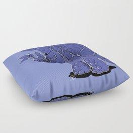 patron turtle of gardening Floor Pillow