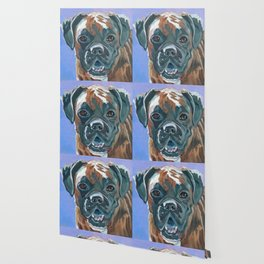 Boone the Boxer Dog Portrait Wallpaper