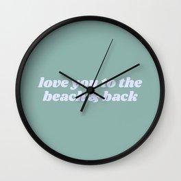 beach & back Wall Clock