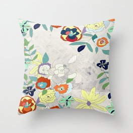 Saturday Florals Throw Pillow