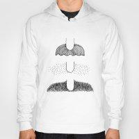 mustache Hoodies featuring Mustache by st ko ru