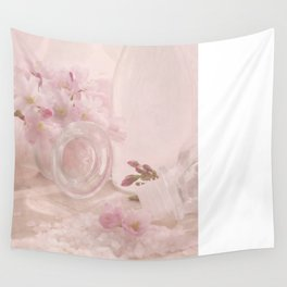 Almond blossoms in Vintage Style Wall Tapestry