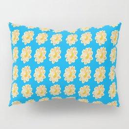 Golden Daisy Swimming in Blue Pillow Sham