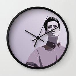 Model Man A (Purple Hue) Wall Clock
