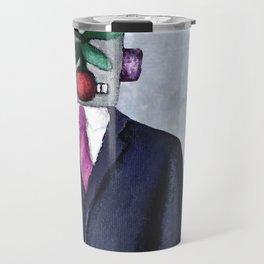 Robot with Apple Travel Mug