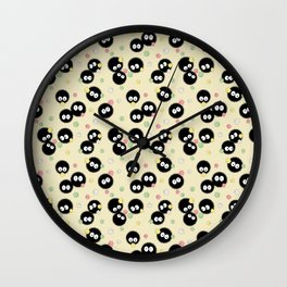 Soot Sprites with Konpeito Sugar Candy Wall Clock