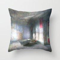 bathroom Throw Pillows featuring My new bathroom by Anne Seltmann