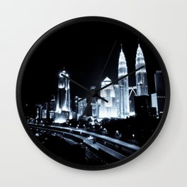 Kuala Lumpur night Wall Clock