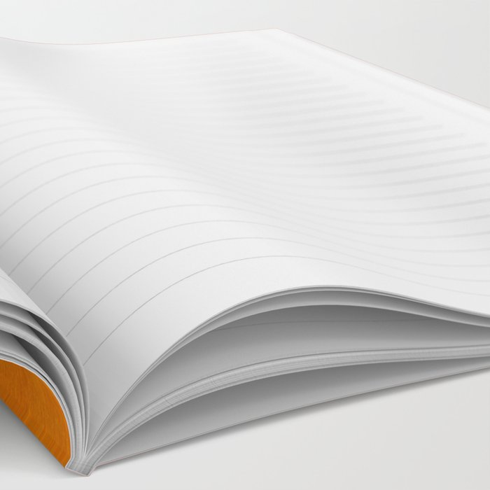 Burnt Orange Yellow Ochre Mid Century Modern Abstract Minimalist Rothko Color Field Squares Notebook