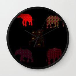 Five Elephants version2 Wall Clock