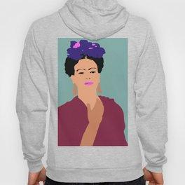 Frida Khalo Flat Graphic Modern Hoody