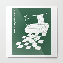 Hot Days, Cool Tiles Metal Print