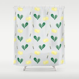 Butter & Spinach Shower Curtain