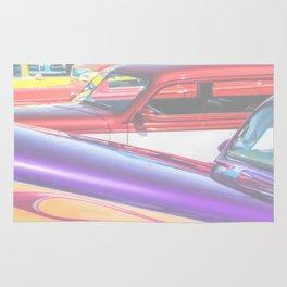 Candy Color Hot Rods, Tasty Automotive Art by Murray Bolesta Rug