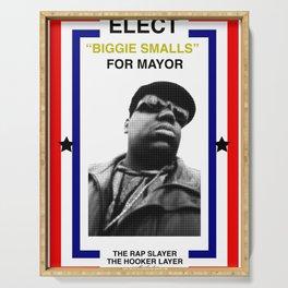 Biggie Smalls for Mayor Serving Tray