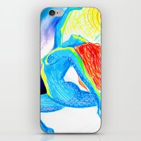 yoga iPhone & iPod Skins featuring Yoga by solnceZ