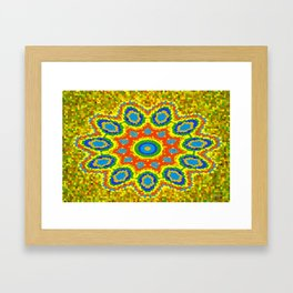 Symmetric composition 9 Framed Art Print