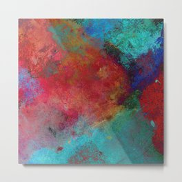 Love - Abstract, textured painting Metal Print