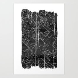 Paintbrush Mounts Art Print