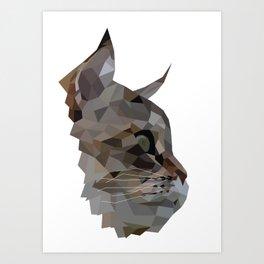 Geometric Cat Digitally Created Art Print