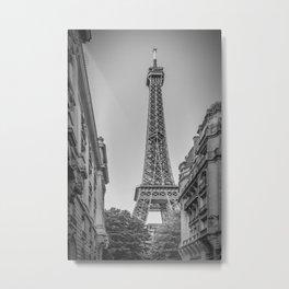 Parisian Flair | monochrome Metal Print