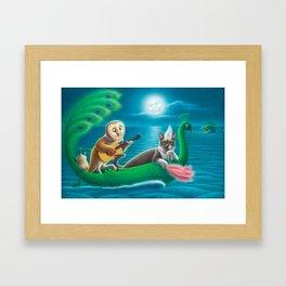 The Owl & the Pussycat Framed Art Print