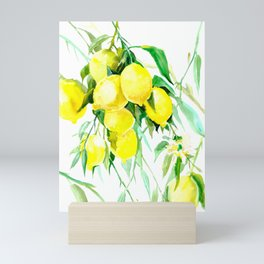 Lemon Tree kitchen decor art towel lemon Mini Art Print