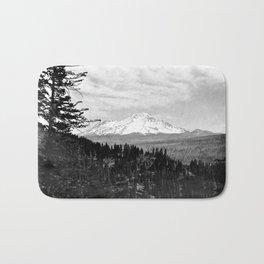 Mount Shasta, and neighboring mountain Shastina, Siskiyou County, ca.1900-1940 Bath Mat