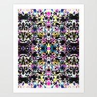Paint Splatter - Black Art Print