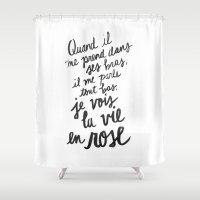 lyrics Shower Curtains featuring ...La vie en rose (lyrics) by Holley Maher