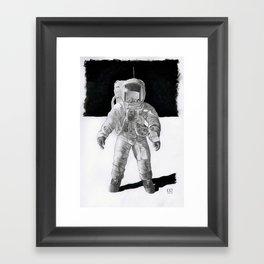 Mister-Bean-on-the-Moon Framed Art Print