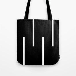 Black & White Retro Stripes Tote Bag