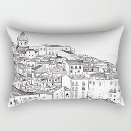 Lisbon Cityscape Rectangular Pillow
