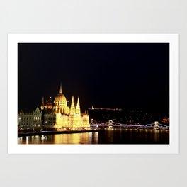 The lights of the city Art Print