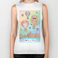 hot air balloon Biker Tanks featuring I {❤} Hot Air Balloon by lilycious