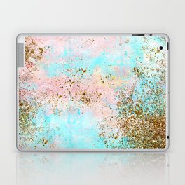 Pink and Gold Mermaid Sea Foam Glitter Laptop & iPad Skin