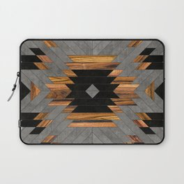 Urban Tribal Pattern 6 - Aztec - Concrete and Wood Laptop Sleeve