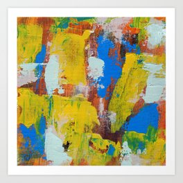 Abstract Expression #8 by Michael Moffa Art Print