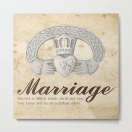March Marriage Metal Print
