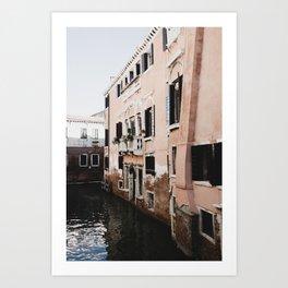 Pastel Pink Venice Italy Art Print