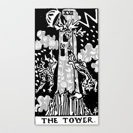 The Tower - A Floral Tower Print Canvas Print