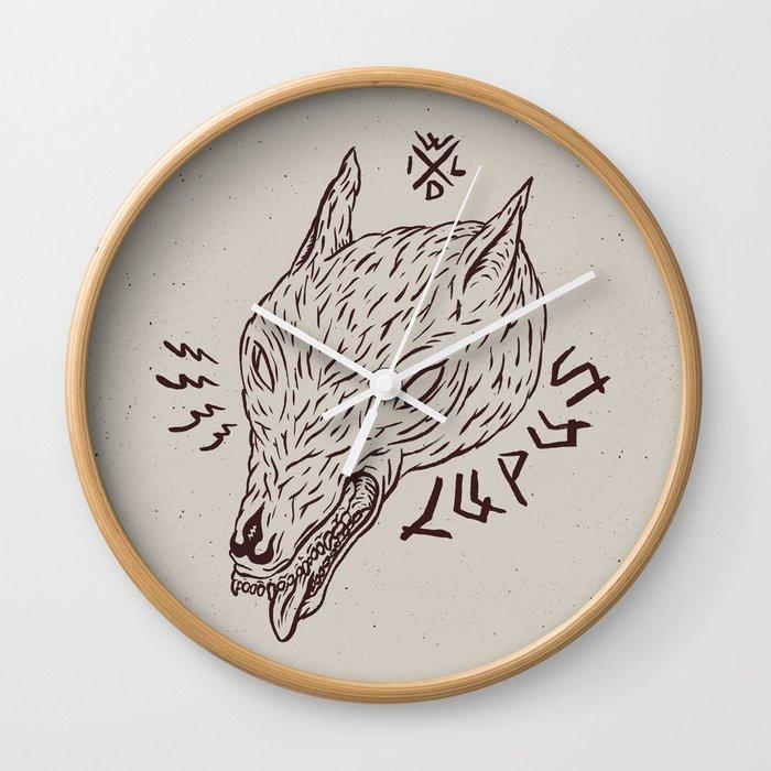 wildbeasts #3 - LUPUS Wall Clock