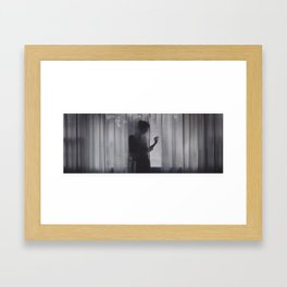 all the night without love Framed Art Print