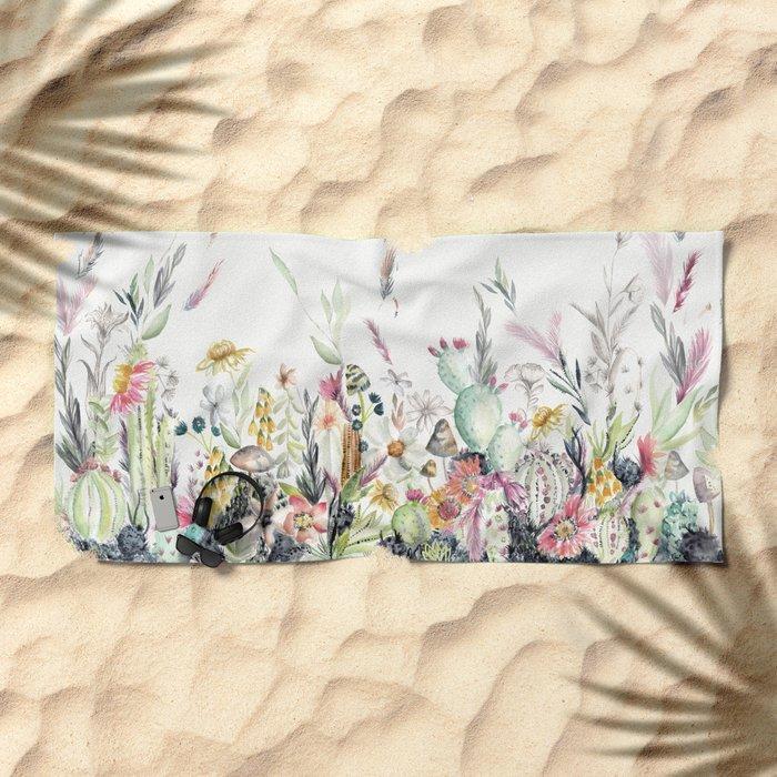 Santa Fe Cactus Love Beach Towel
